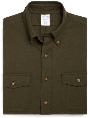 Brooks Brothers Slim Fit BrooksFlannel® Solid Twill Sport Shirt