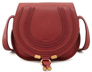 Chloé Marcie Small Satchel Bag, Red