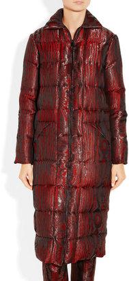 Christopher Kane Quilted silk-blend moiré coat