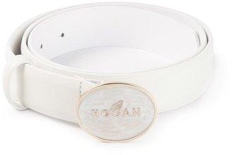 Hogan logo buckle belt