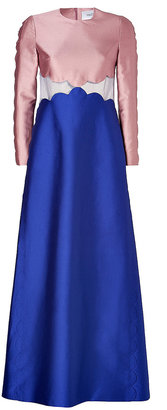 Valentino Colorblock Evening Gown in Rose/China Blue
