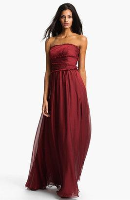 Monique Lhuillier Bridesmaids Strapless Chiffon Gown (Nordstrom Exclusive)