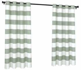 Home Outfitters Indoor and Outdoor Cabana Stripe Small Window Curtain