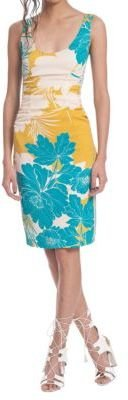 Tracy Reese Tropical Floral Print Dress