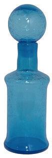 "Three Hands Corp 12"" Glass Bottle, Blue"