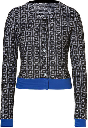 Steffen Schraut Black/Blue Broadway Jacquard Knit Jacket