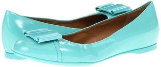 Salvatore Ferragamo Sun (Turquoise Patent) - Footwear