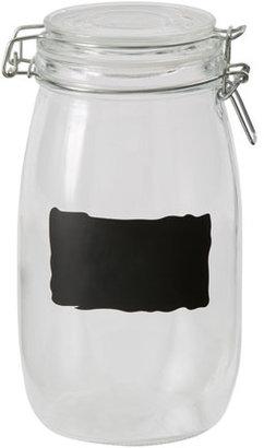 Australian House & Garden Glass Jar with Chalk Board L