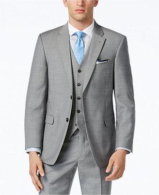 Tommy Hilfiger Grey Sharkskin Classic-Fit Jacket $425 thestylecure.com