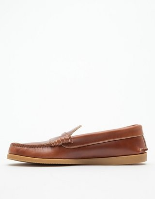 Quoddy Whiskey Penny Loafer Gum Sole