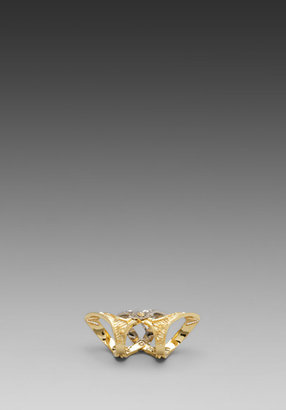 House Of Harlow Moroccan Goum Armour Ring in Gold/Silver