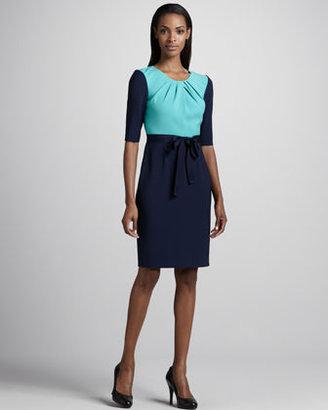 T Tahari Mina Colorblock Dress
