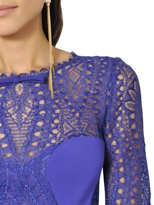 Emilio Pucci Lace And Viscose Punto Milano Dress