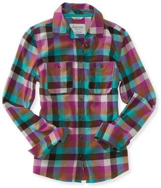 Aeropostale Long Sleeve Checkered Woven Shirt