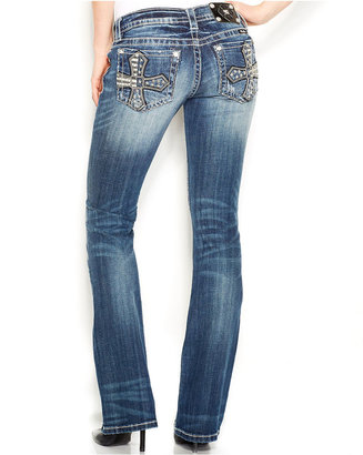 Miss Me Stars-And-Stripes Cross Bootcut Jeans