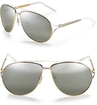 Gucci Double Bridge Aviator Sunglasses