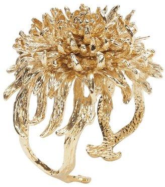 Alexander McQueen Gold Chrysanthemum Cuff