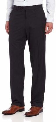 Haggar Men's Big & Tall Striped Plain-Front Suit-Separate Pant