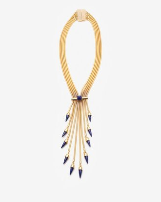 Fallon Exclusuve Tassel Blue Lapis Snake Coil Necklace