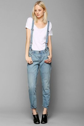 BDG Suspender Slim Boyfriend Jean - Carpenter Blue