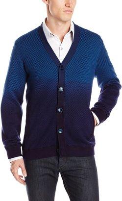 Robert Graham Men's Playground-Long Sleeve Sweater Knit Cardigangan