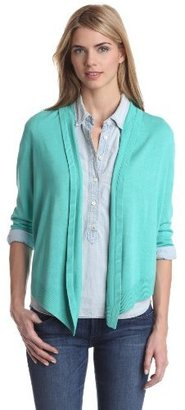 Chaus Women's Three-Quarter Sleeve Open-Front Cardigan Sweater