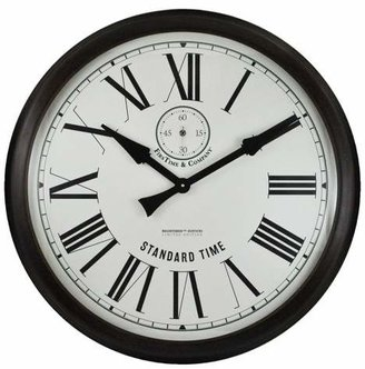 FirsTime Oversized Heritage Wood Wall Clock (