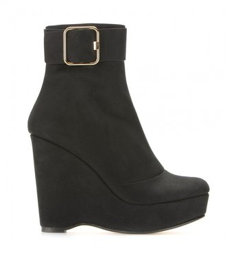 Stella McCartney WEDGE BOOTS WITH BUCKLE