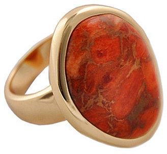 Barse Luster Orange Sponge Coral Ring