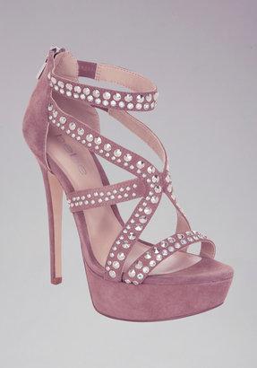 Bebe Kristi Embellished Suede Sandals