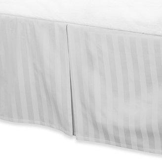 Wamsutta Mills 500 Damask Twin Bed Skirt in White