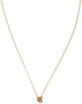 Jennifer Zeuner Jewelry XS Horizontal Heart Necklace with Diamond