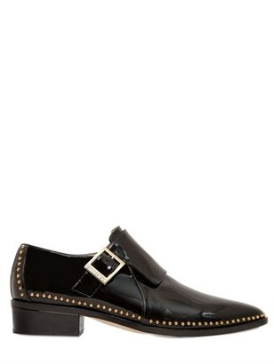 Jimmy Choo 30mm Patent Leather Monk Strap Shoes