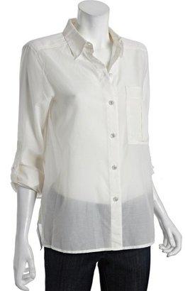 Marc by Marc Jacobs parchment cotton-silk 'Rex' button front blouse