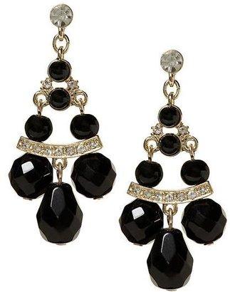 Banana Republic Deco black chandelier earring