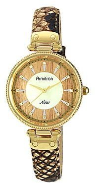 JCPenney Armitron® NowTM Womens Brown Snake-Print Leather Watch