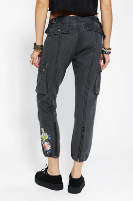 Silence & Noise Silence + Noise Embroidered Aviator Cargo Pant