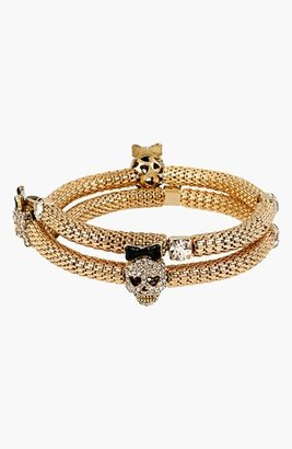 Betsey Johnson 'Wear It Where?' Skull Coil Bracelet
