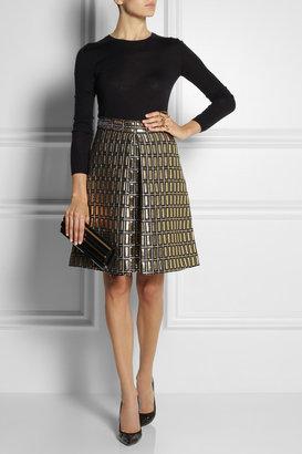 Temperley London Metallic jacquard skirt