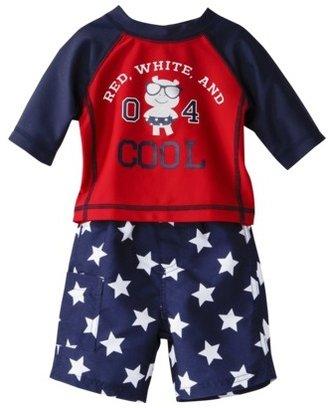 Carter's Just One You® by Infant Boys' Stars and Stripes Rashguard Swim Trunk Set