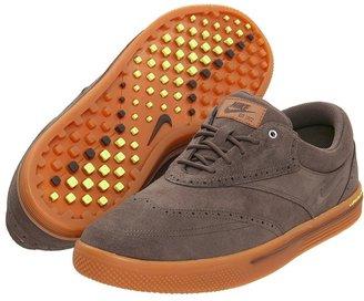 Nike Lunar Swingtip - Suede (Black/Black/Medium Brown/Volt) - Footwear