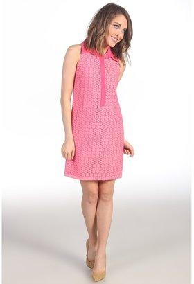 Suzi Chin for Maggy Boutique - Sleeveless Lace Shirt Dress (Flamingo) - Apparel