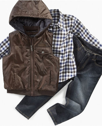 Kenneth Cole Kids Set, Little Boys 3-Piece Vest, Shirt and Denim Set