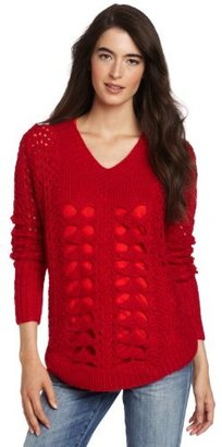 Funktional Women's Chunky V-Neck Sweater