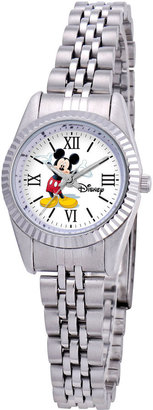 Disney Status Womens Mickey Mouse Silver-Tone Metal Bracelet Watch $47.99 thestylecure.com