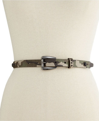 GUESS Belt, Camouflage Skinny with Rhinestones