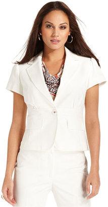 Nine West Jacket, Short-Sleeve Blazer