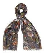 Dorothy Perkins Womens Dark Base Floral Scarf- Black