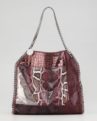 Stella McCartney Falabella Small Patchwork Tote Bag, Plum
