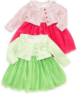 First Impressions Baby Girls' 3-Piece Cardigan, Dress & Panty Set